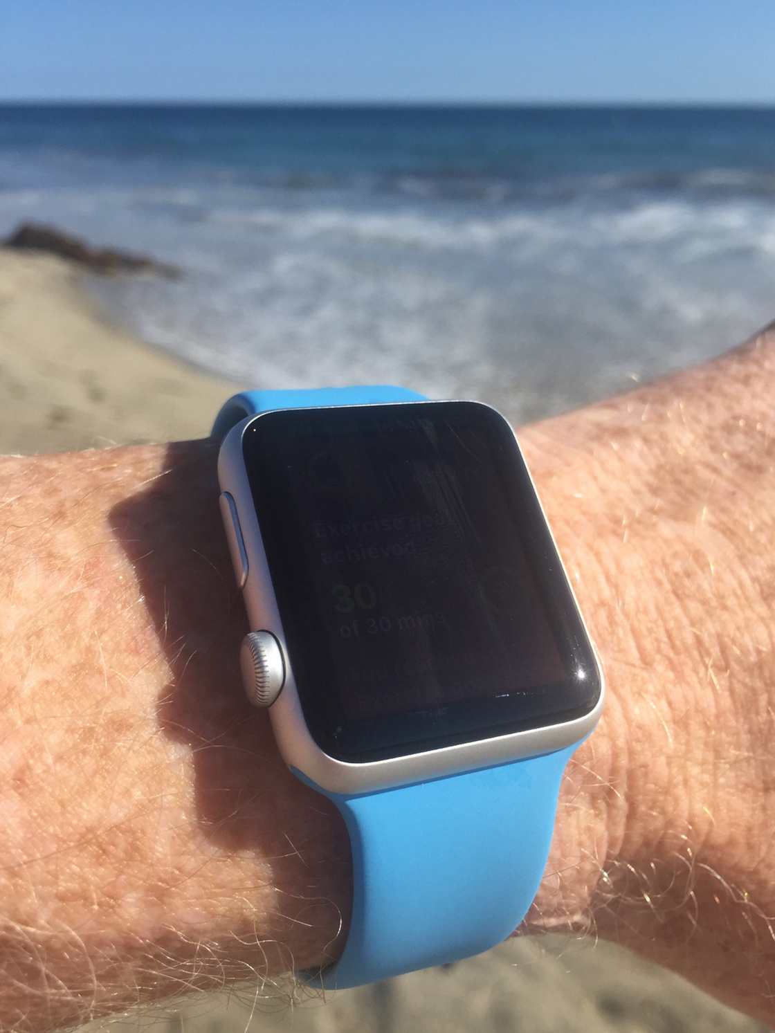 Apple Watch at Main Beach in Laguna Beach, CA